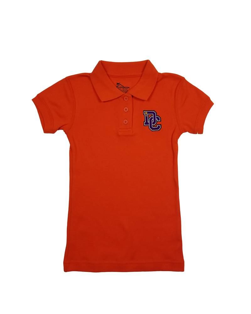 Classroom Uniforms Dayton Christian Girls SS Polo - Orange