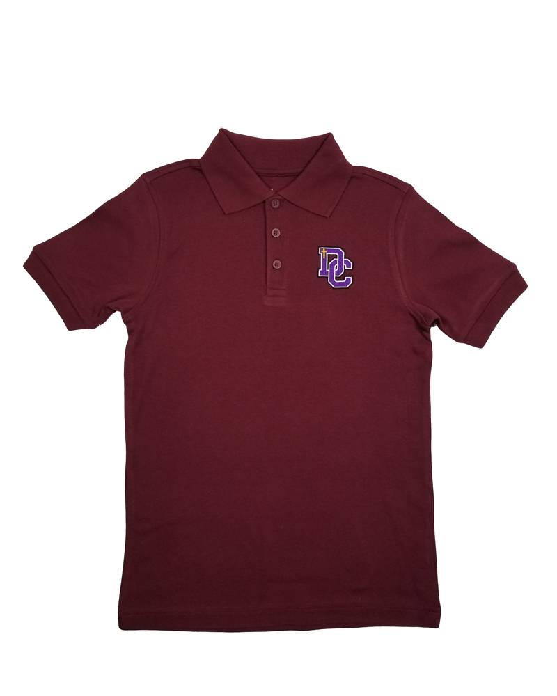 Classroom Uniforms Dayton Christian SS Polo - Maroon