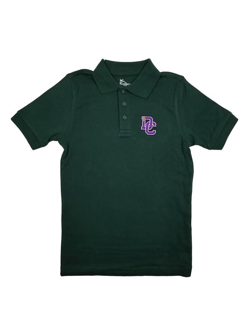 Classroom Uniforms Dayton Christian SS Polo - Hunter