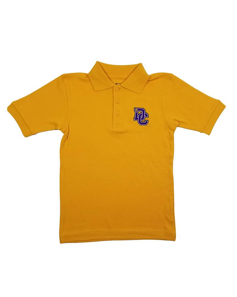 Classroom Uniforms Dayton Christian SS Polo - Gold