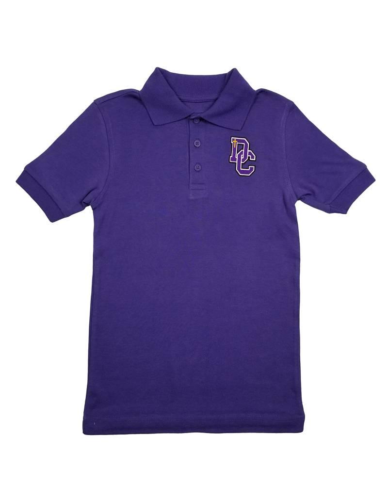Classroom Uniforms Dayton Christian SS Polo - Purple