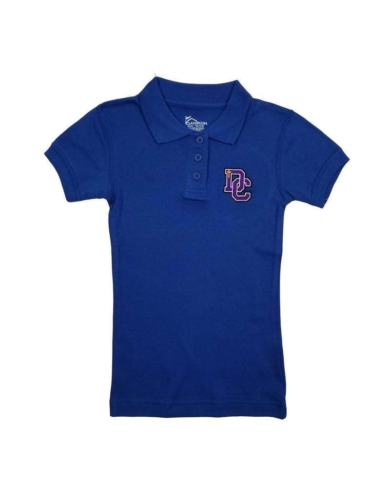 Classroom Uniforms Dayton Christian Girls SS Polo - Royal