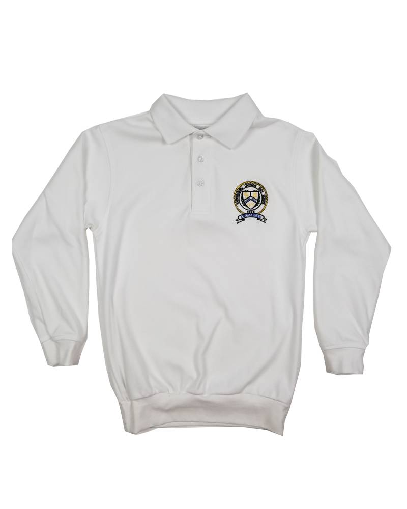 School Apparel, Inc. PARKERSBURG CATHOLIC LS BANDED BOTTOM POLO