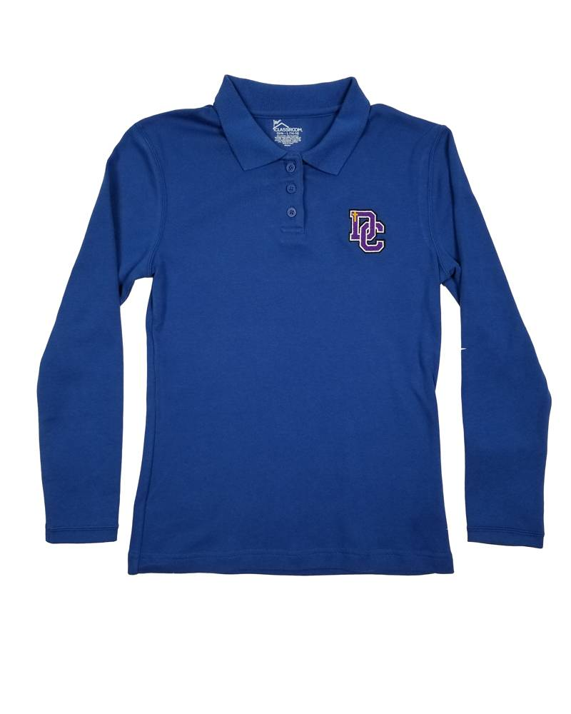 Classroom Uniforms DAYTON CHRISTIAN GIRL LS POLO SHIRT -  ROYAL