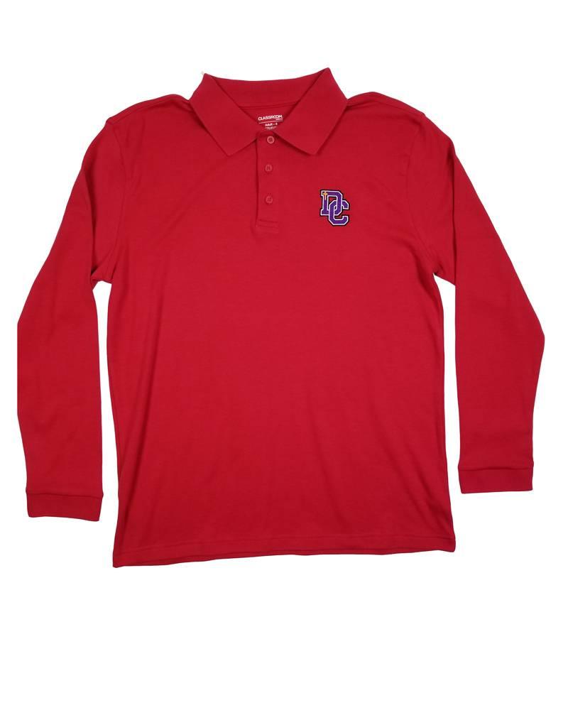 Classroom Uniforms DAYTON CHRISTIAN LS POLO SHIRT - RED