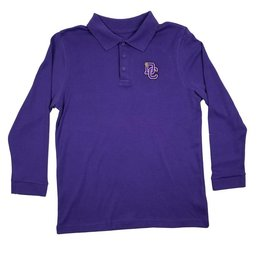 Classroom Uniforms DAYTON CHRISTIAN LS POLO SHIRT - PURPLE