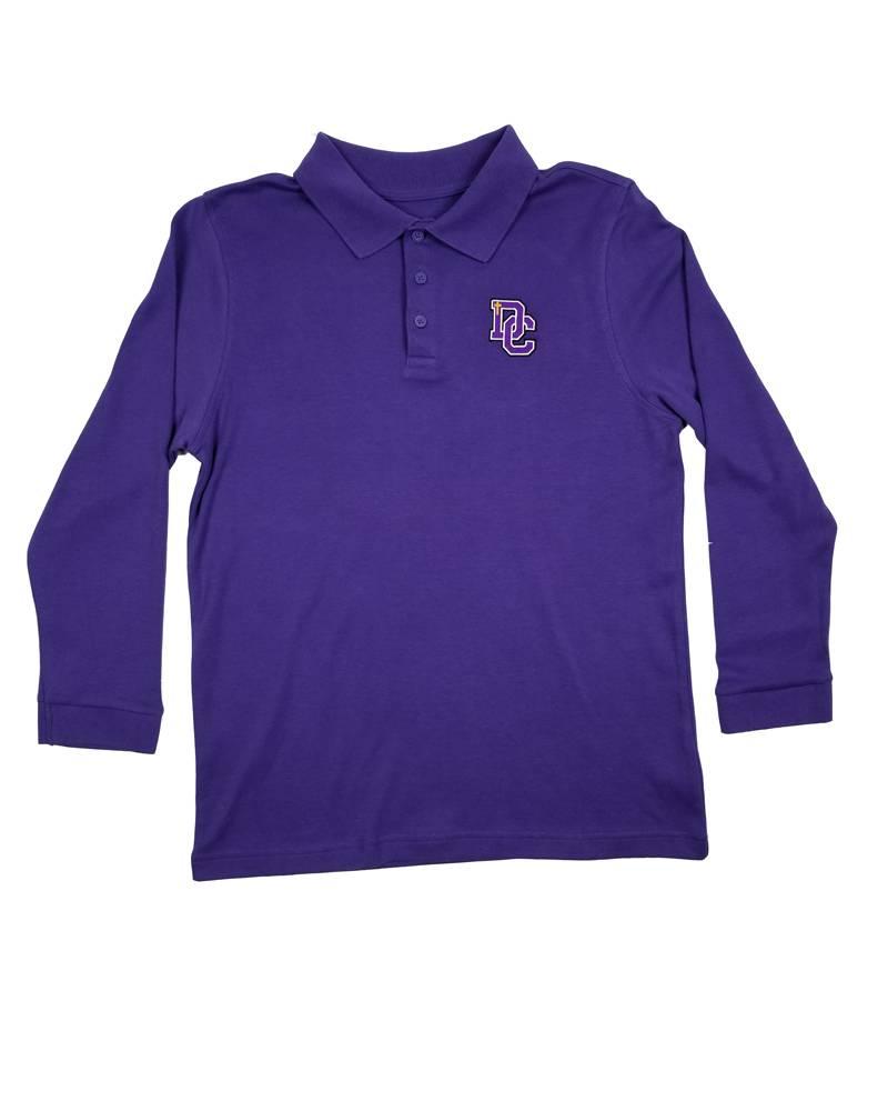 Classroom Uniforms DAYTON CHRISTIAN LS POLO SHIRT - PURPLE