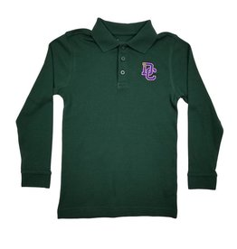 Classroom Uniforms DAYTON CHRISTIAN LS POLO SHIRT - HUNTER