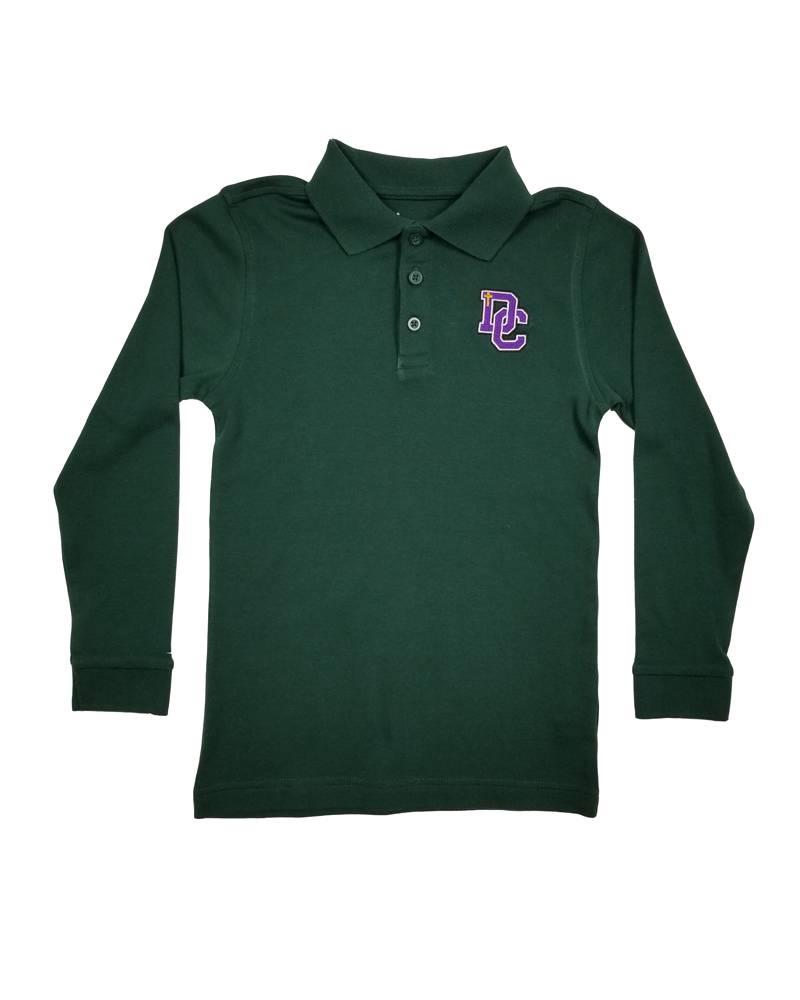 Classroom Uniforms DAYTON CHRISTIAN LS POLO SHIRT - HUNTER