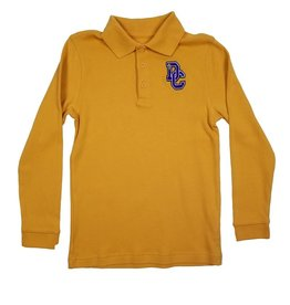 Classroom Uniforms DAYTON CHRISTIAN LS POLO SHIRT - GOLD