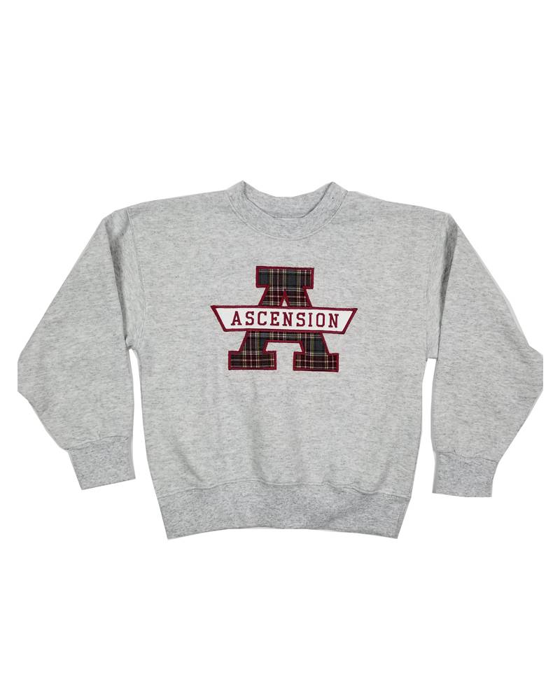 School Apparel, Inc. ASCENSION - PLAID SWEATSHIRT