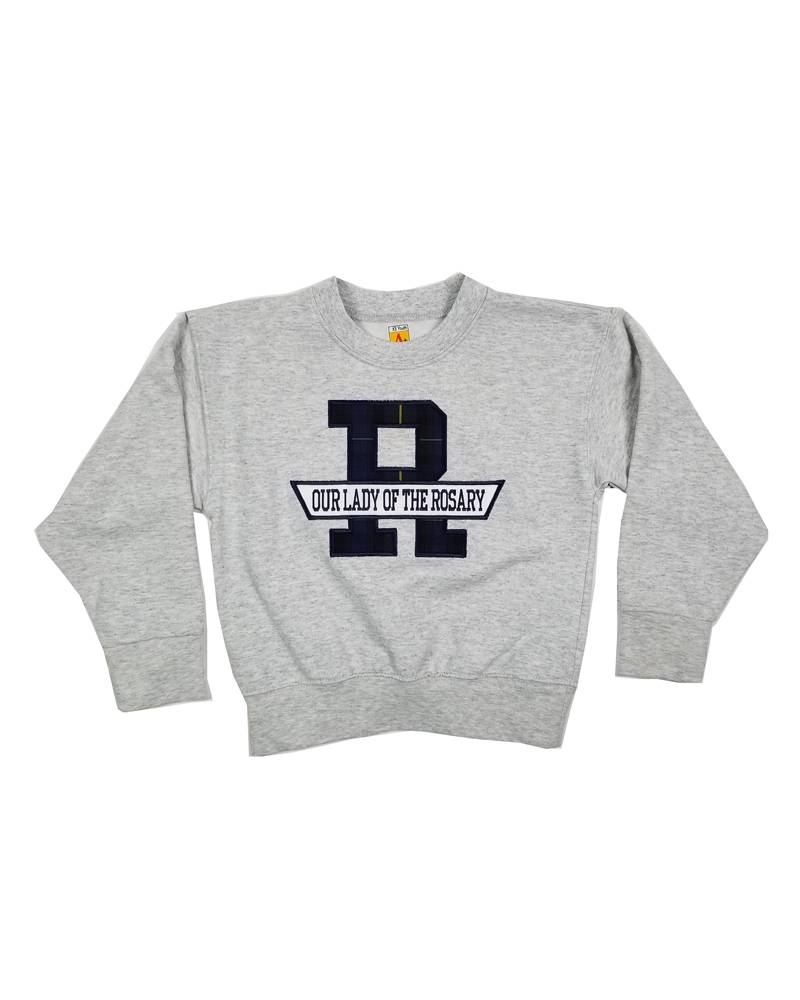 School Apparel, Inc. OUR LADY OF THE ROSARY PLAID SWEATSHIRT