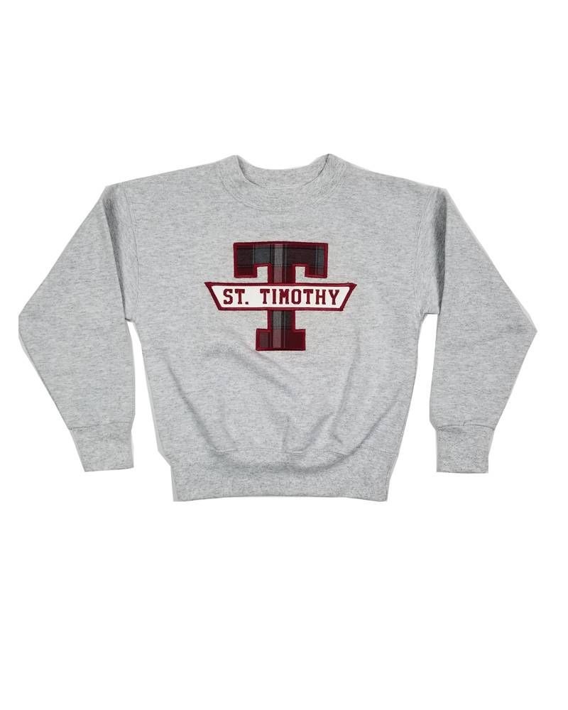 School Apparel, Inc. ST. TIMOTHY  PLAID SWEATSHIRT