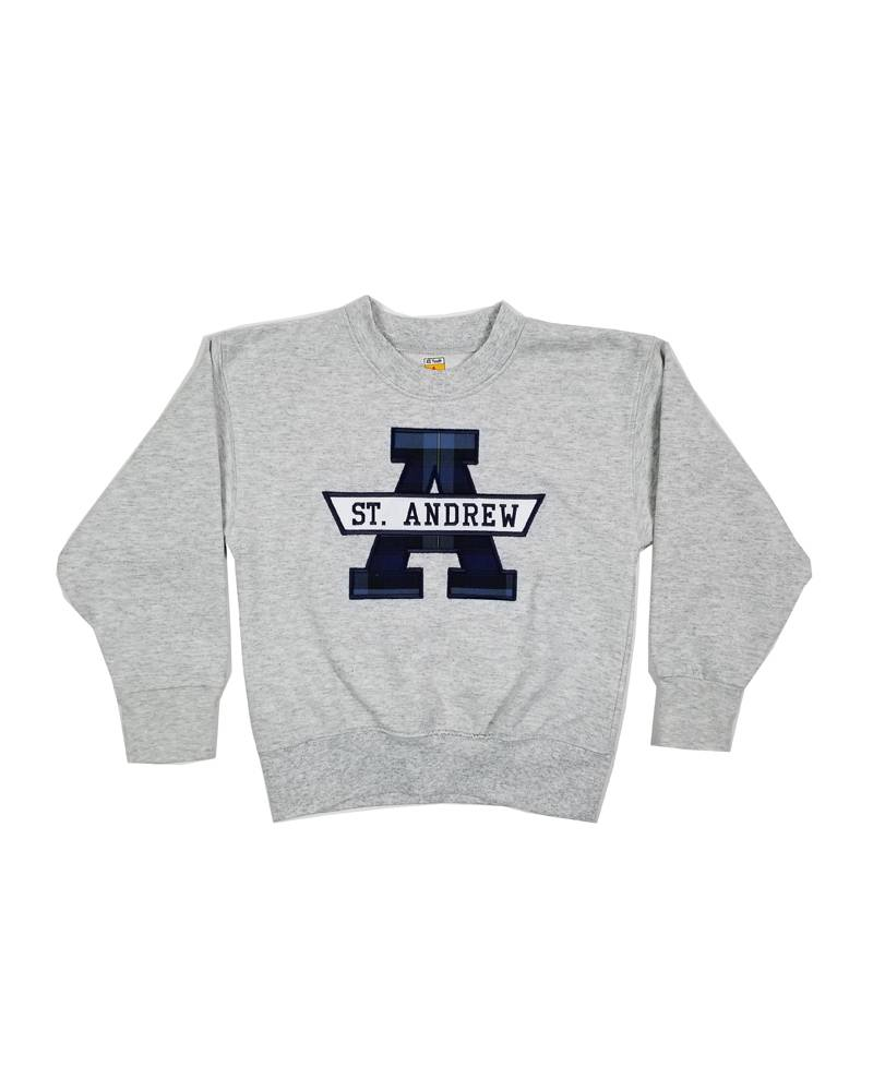 School Apparel, Inc. ST. ANDREW  PLAID SWEATSHIRT