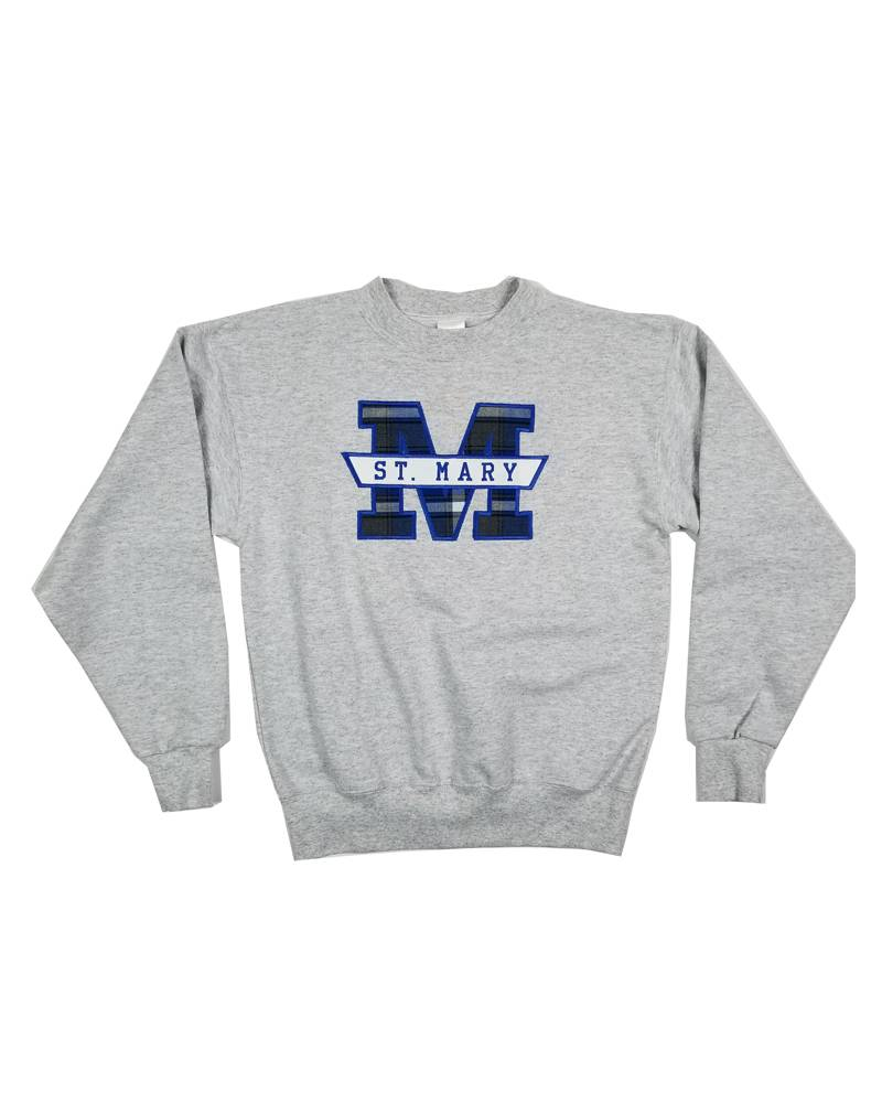 FRIDAYCREAT ST. MARY WOOSTER PLAID SWEATSHIRT