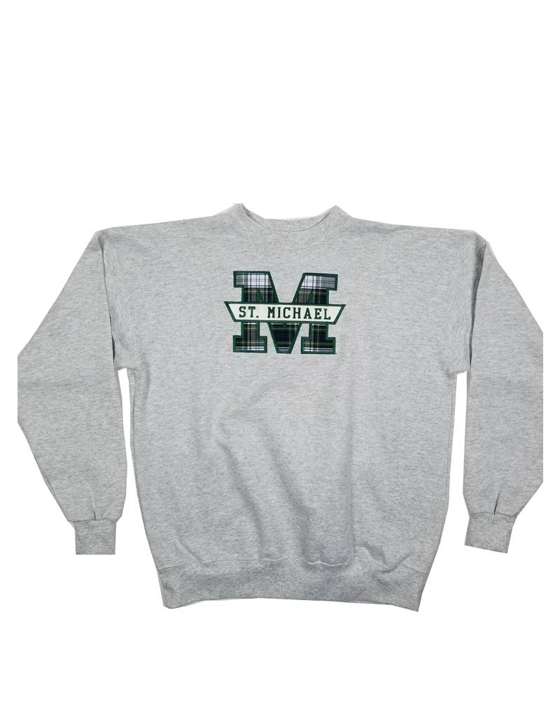 School Apparel, Inc. ST. MICHAEL PLAID SWEATSHIRT