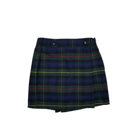Wrap Front Skort Plaid 55