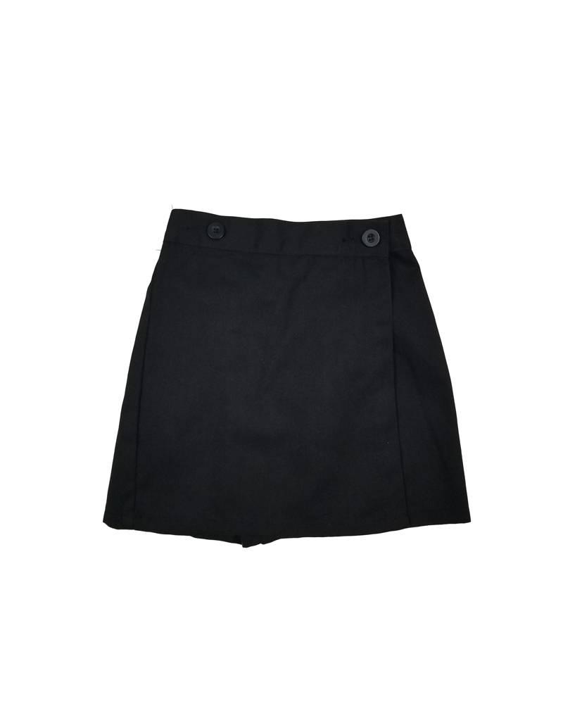 Wrap Front Skort Black