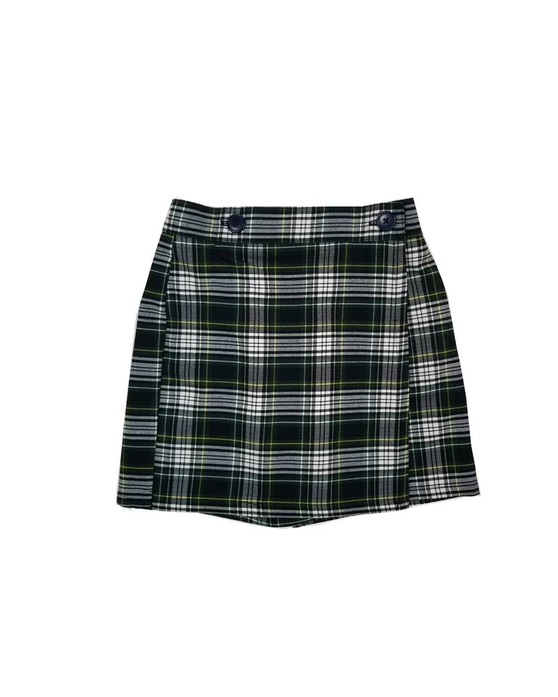 Wrap Front Skort Plaid 61
