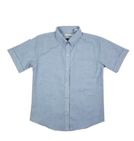 Elder Manufacturing Co. Inc. GIRLS/LADIES SS LT BLUE OXFORD BLOUSE