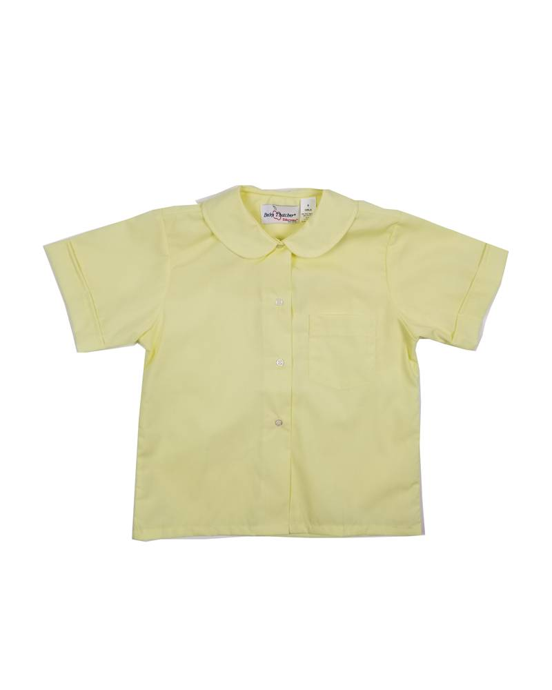 Elder Manufacturing Co. Inc. GIRLS/LADIES SS YELLOW ROUND COLLAR BLOUSE