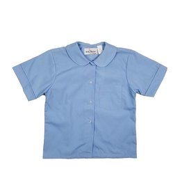 Elder Manufacturing Co. Inc. GIRLS/LADIES SS LT BLUE ROUND COLLAR BLOUSE