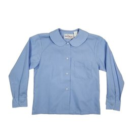 Elder Manufacturing Co. Inc. GIRLS/LADIES LS LT BLUE ROUND COLLAR BLOUSE