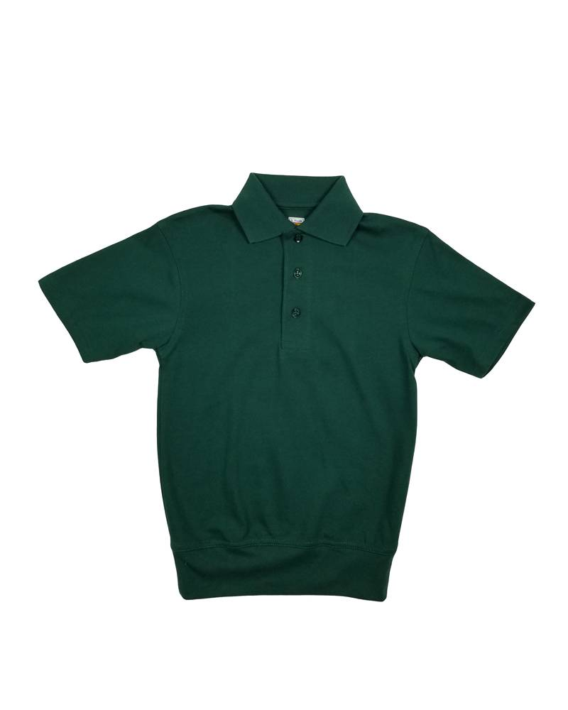 Short Sleeve Banded Bottom Polo Green Educational Apparel