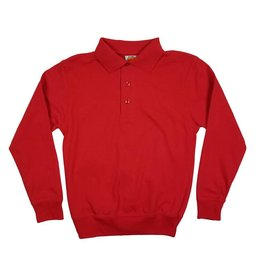 School Apparel, Inc. LONG SLEEVE BANDED BOTTOM POLO RED