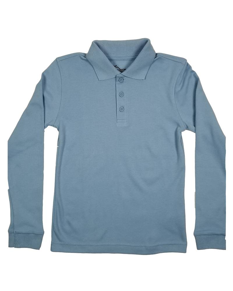 Classroom Uniforms CLASSROOM LONG SLEEVE POLO LT BLUE