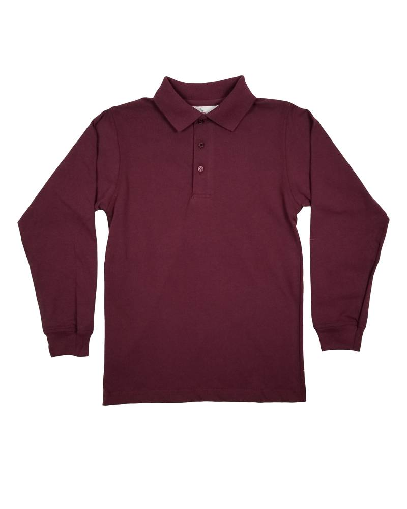 Elder Manufacturing Co. Inc. LONG SLEEVE  JERSEY KNIT SHIRT MAROON