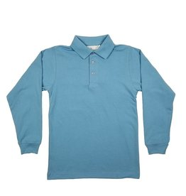 Elder Manufacturing Co. Inc. LONG SLEEVE  JERSEY KNIT SHIRT BLUE