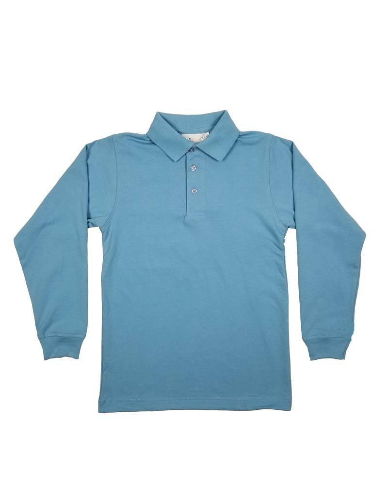 Elder Manufacturing Co. Inc. LONG SLEEVE  JERSEY KNIT SHIRT BLUE