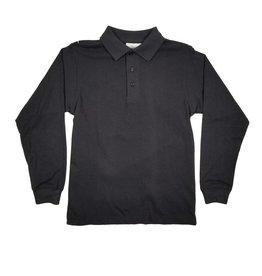 Elder Manufacturing Co. Inc. LONG SLEEVE  JERSEY KNIT SHIRT BLACK