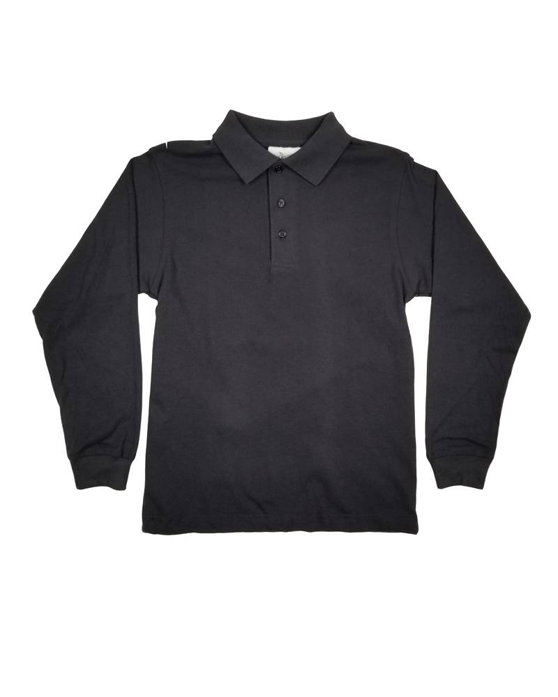 Elder Manufacturing Co. Inc. LONG SLEEVE  JERSEY KNIT SHIRT BLACK