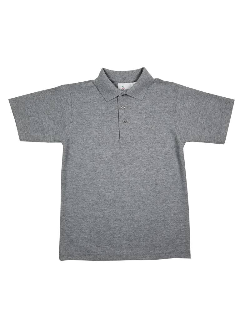 Elder Manufacturing Co. Inc. SHORT SLEEVE PIQUE KNIT SHIRT GREY