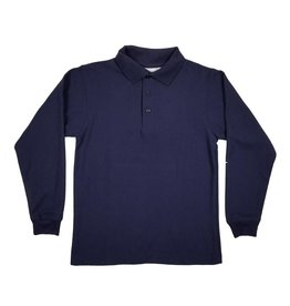 Elder Manufacturing Co. Inc. LONG SLEEVE PIQUE KNIT SHIRT NAVY