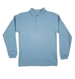 Elder Manufacturing Co. Inc. LONG SLEEVE PIQUE KNIT SHIRT LT BLUE