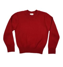 School Apparel, Inc. CREW NECK PULLOVER SWEATER RED