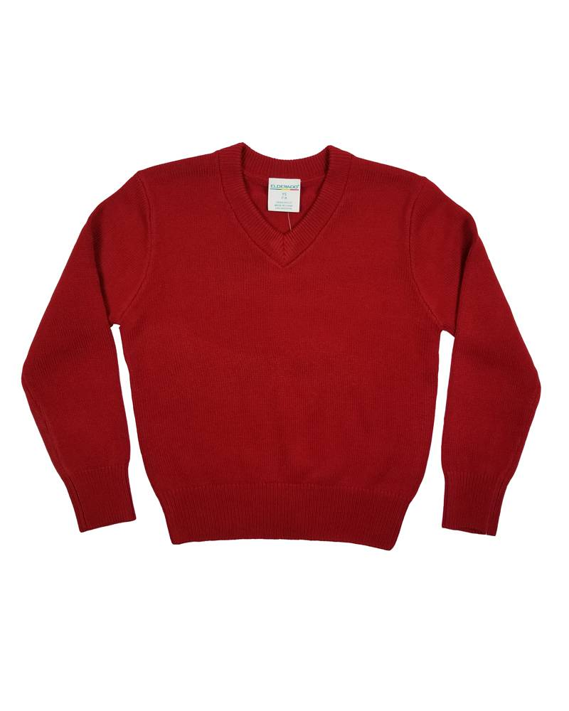 Elder Manufacturing Co. Inc. V/NECK PULLOVER SWEATER RED