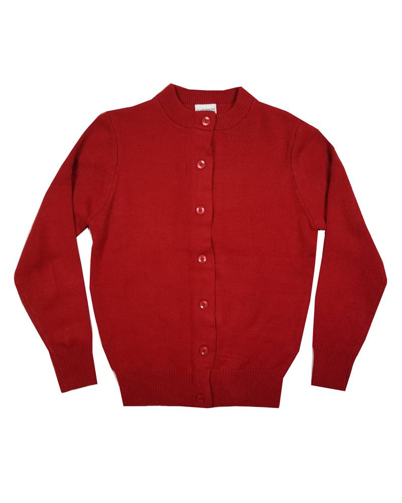 Elder Manufacturing Co. Inc. GIRLS CARDIGAN RED