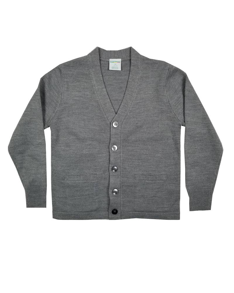 Elder Manufacturing Co. Inc. V-NECK CARDIGAN W/ POCKET GREY