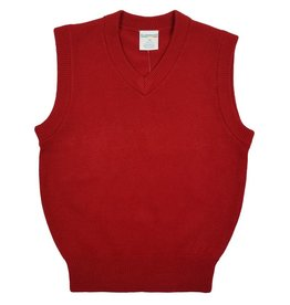 Elder Manufacturing Co. Inc. V/NECK SWEATER VEST RED
