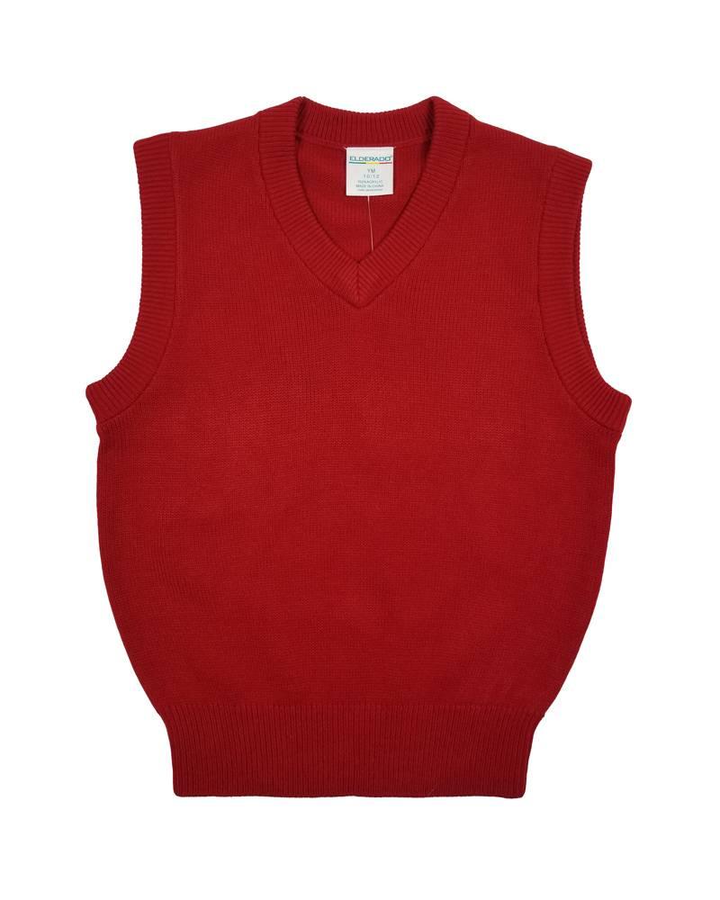 Elder Manufacturing Co. Inc. V/NECK SWEATER VEST RED