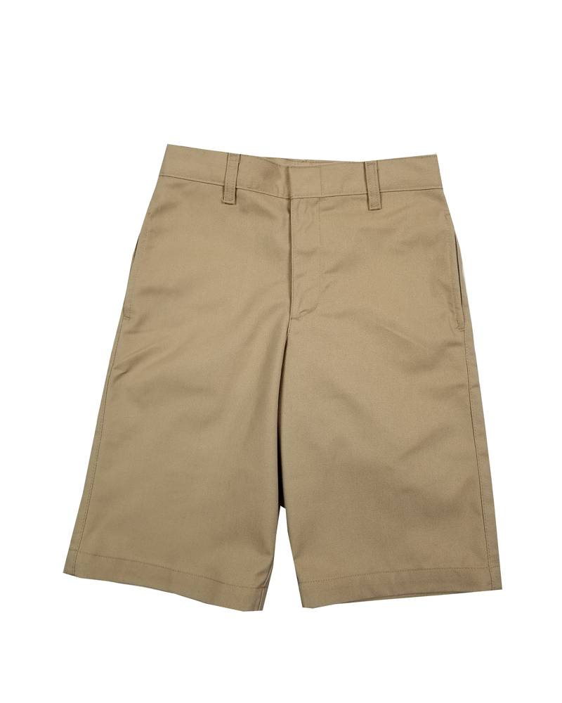 Elder Manufacturing Co. Inc. BOYS/MENS FLAT FRONT SHORTS KHAKI
