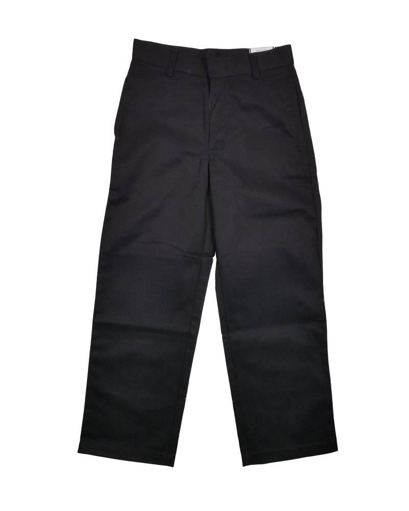 Elder Manufacturing Co. Inc. BOY/MENS FLAT FRONT PANTS BLACK