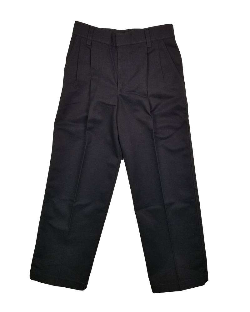 Elder Manufacturing Co. Inc. BOY/MENS PLEATED PANTS BLACK