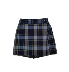 Wrap Front Skort Plaid 57