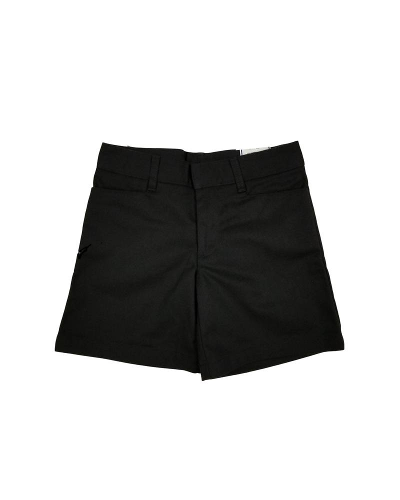 Elder Manufacturing Co. Inc. GIRLS FLAT FRONT SHORT BLACK