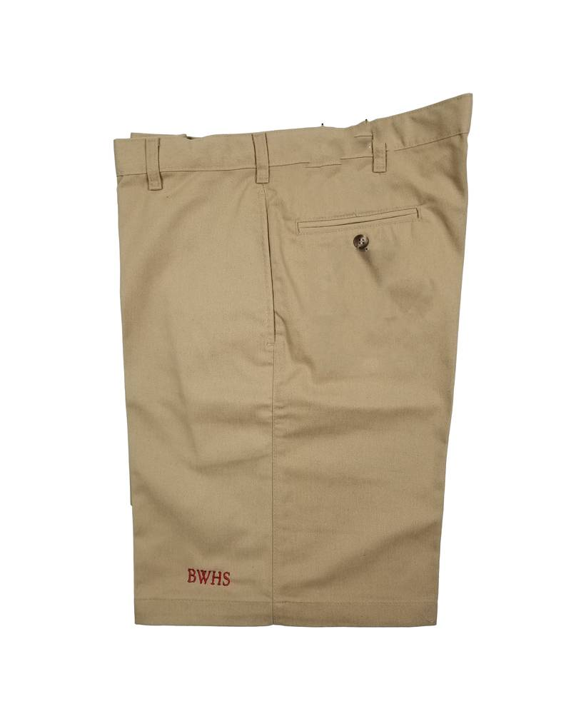 Elder Manufacturing Co. Inc. BISHOP WATTERSON BOY/MENS KHAKI FLAT FRONT SHORTS